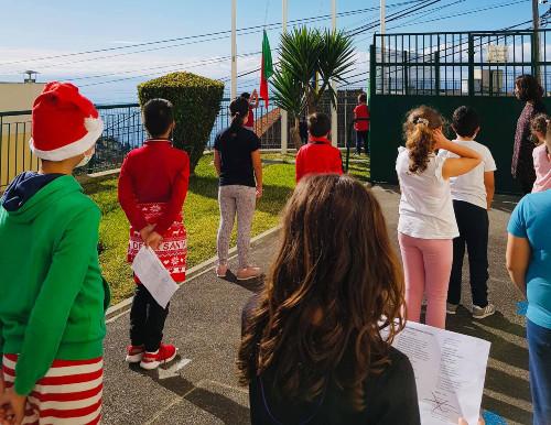 Hastear da Bandeira Verde Eco-Escolas
