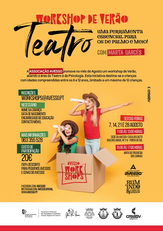 Workshop de Verão dedicado ao Teatro e à Psicologia