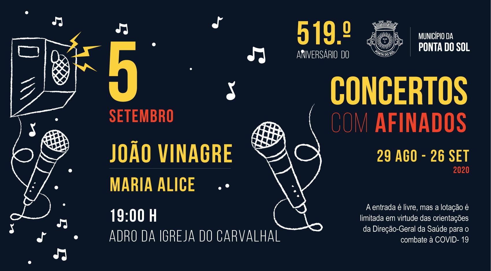 Concertos Com - AFINADOS | João Vinagre acompanhado por Maria Alice