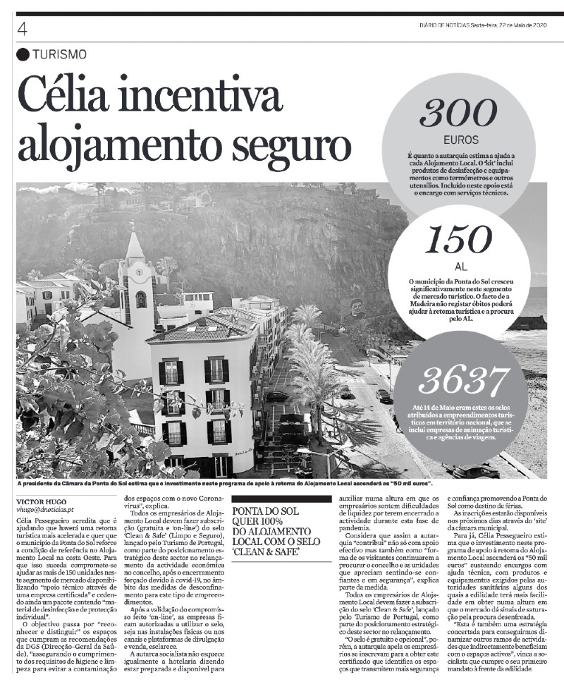 Alojamento seguro na Ponta do Sol | clipping