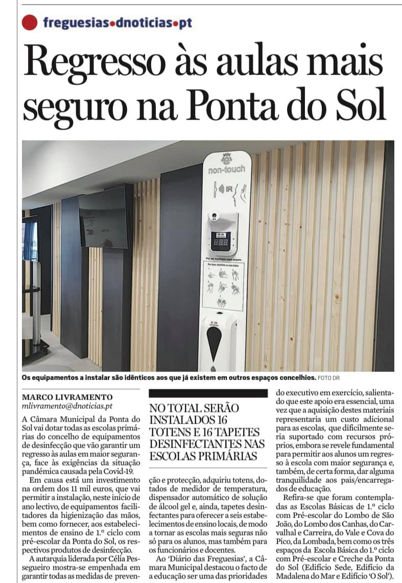 Regresso à escola mais seguro na Ponta do Sol