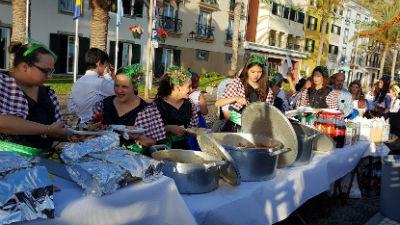 Jantar e marchas de Santo António da Ponta do Sol