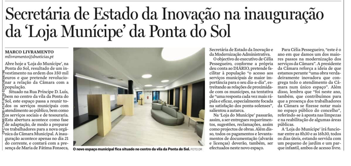Loja do Munícipe da Ponta do Sol com a presença da Secretária de Estado da Inovação