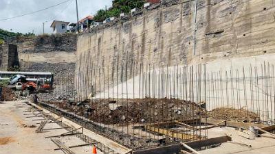 Obras de construção da Central de Transferência de Resíduos Sólidos