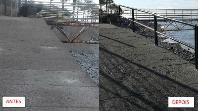 Obras de proximidade | varanda da promenade da Madalena do Mar |