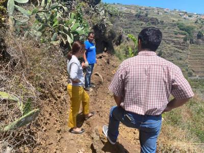 Visita às obras na vereda no Pico do Anjo - Fonte da Dama