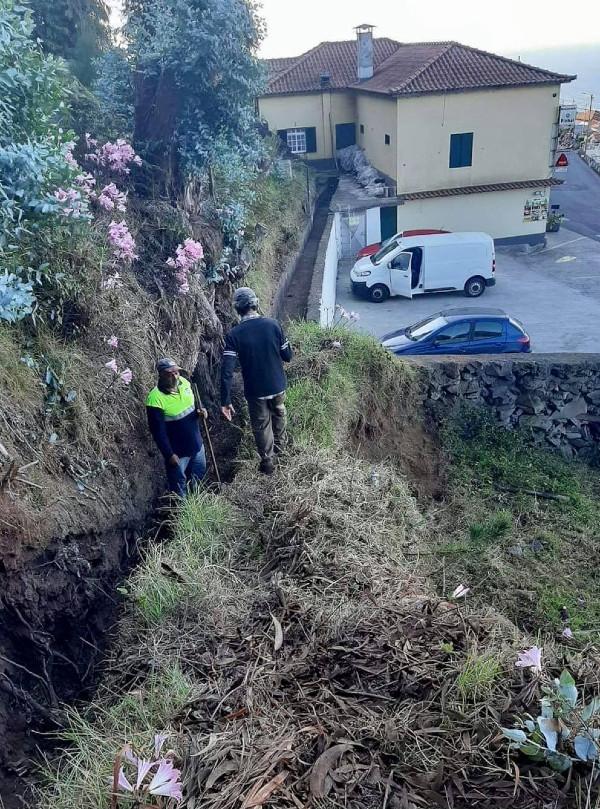 Trabalhos de limpeza em todo o concelho para escoamento das águas das chuvas