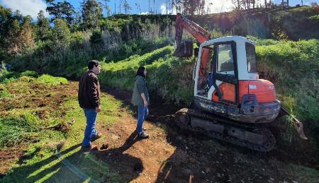 Limpeza de caminho no Sítio das Eiras - Carvalhal