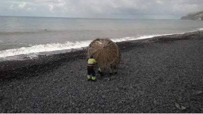 Remoção do material apoio às praias | agitação marítima