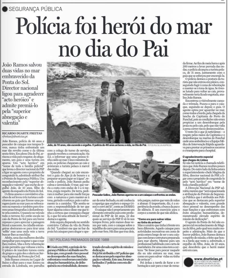 Obrigada agente João Ramos