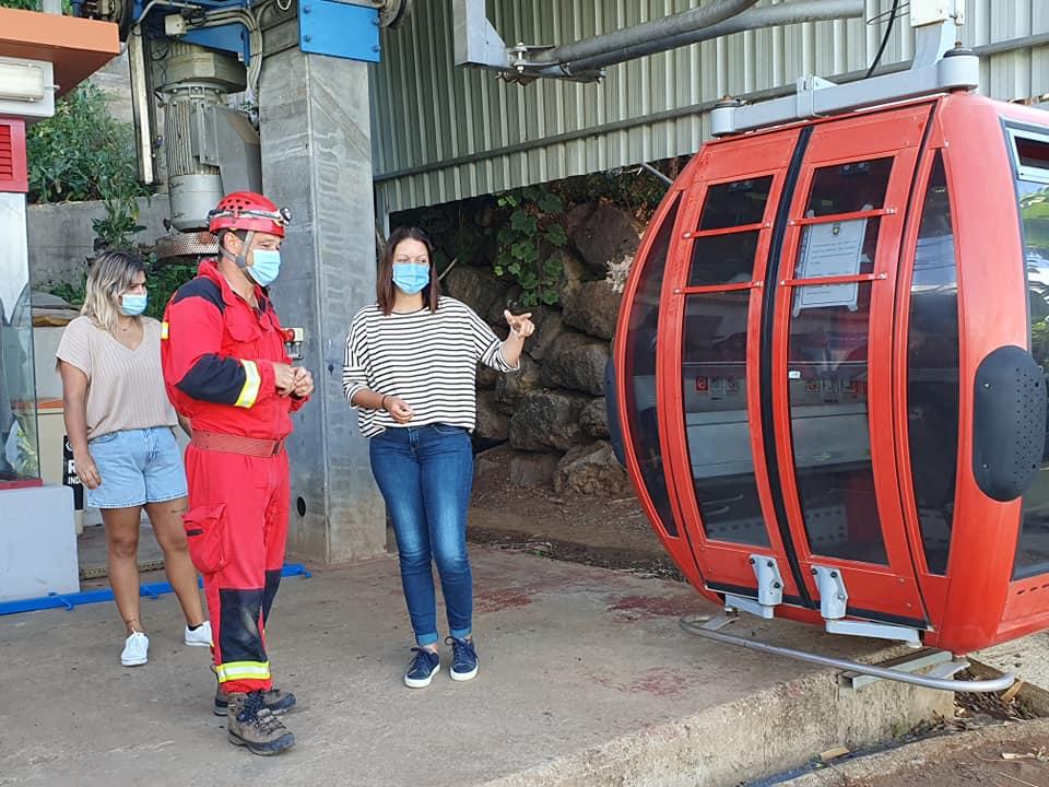 Teleférico do Bacelo nos Canhas | simulacro de resgate